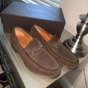 Gucci suede loafer